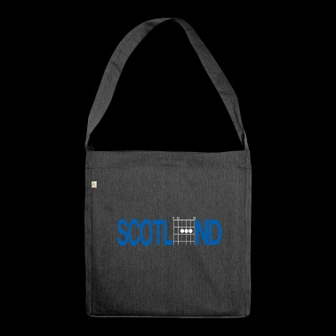 Scotland in Guitar Chords - Shoulder Bag made from recycled material