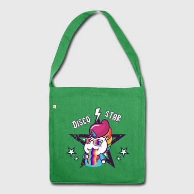 Disco Star Unicorn Rainbow Vomit for Kids , Baby - Shoulder Bag made from recycled material