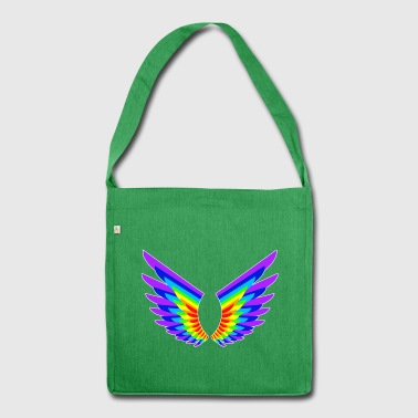 Rainbow angel wings - Shoulder Bag made from recycled material