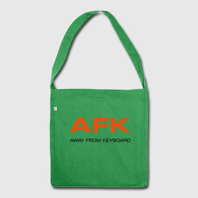 AFK Away from keyboard Computerspiele Game over! - Schultertasche aus Recycling-Material