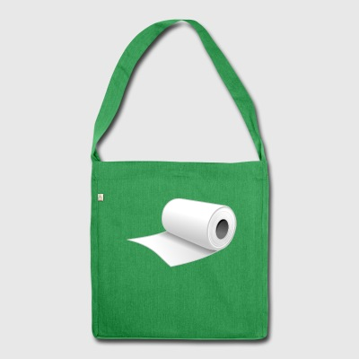 Toilet paper - Shoulder Bag made from recycled material