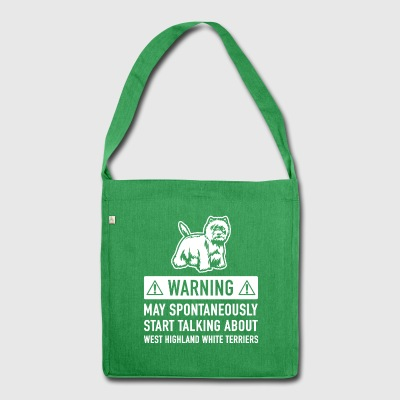 Funny West Highland White Terrier Gift Idea - Shoulder Bag made from recycled material