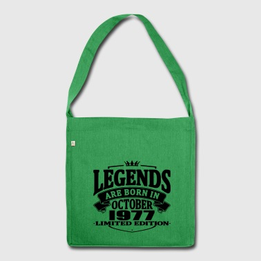 Legends are born in october 1977 - Shoulder Bag made from recycled material