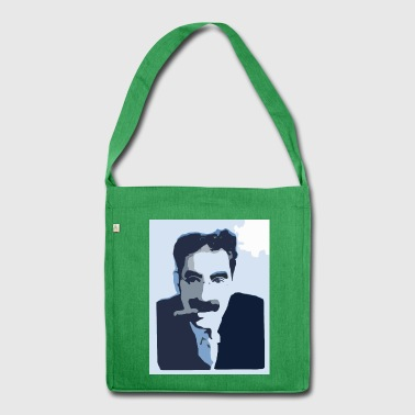 Groucho Marx Blue - Shoulder Bag made from recycled material