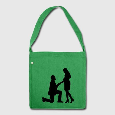 proposal of marriage - Shoulder Bag made from recycled material
