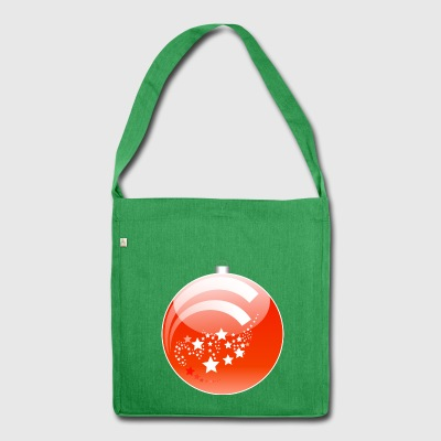 Christmas decoration - Shoulder Bag made from recycled material
