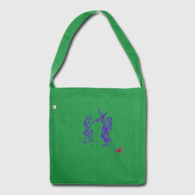 PURPLE SWORD - Shoulder Bag made from recycled material