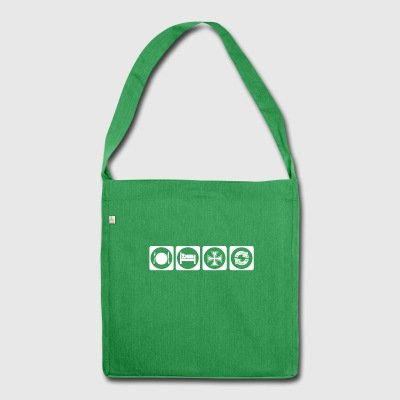 gift eat sleep repeat iron cross iron kreu - Shoulder Bag made from recycled material