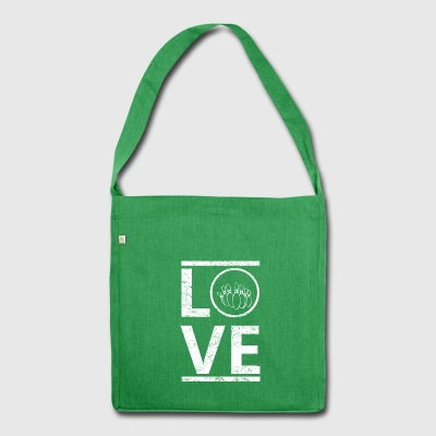 love liebe calling hobby king meister bowling bowl - Schultertasche aus Recycling-Material