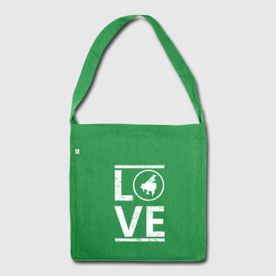 love liebe calling hobby king meister piano klavie - Schultertasche aus Recycling-Material