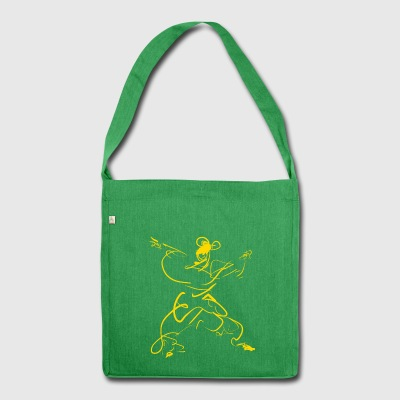 Kungfu girl - Shoulder Bag made from recycled material