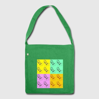 pop art - Shoulder Bag made from recycled material