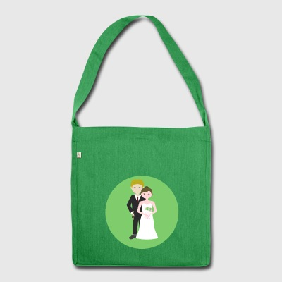 wedding - Shoulder Bag made from recycled material