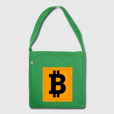 Bitcoin icon - Shoulder Bag made from recycled material