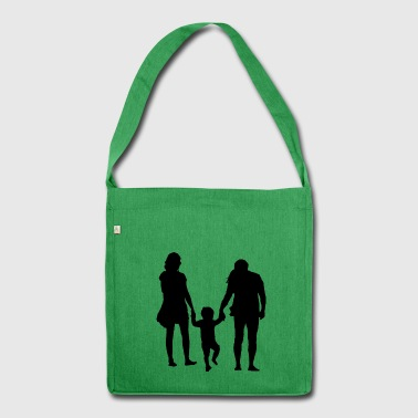 Parents with child - Shoulder Bag made from recycled material