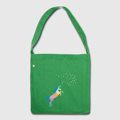 rainbow unicorn - Shoulder Bag made from recycled material