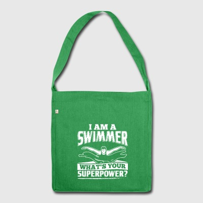 Funny Swim Swimming Shirt I Am A - Shoulder Bag made from recycled material