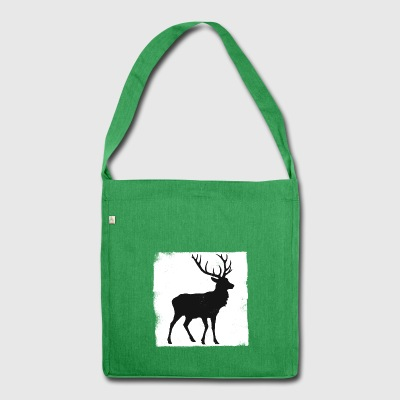 Deer used look - Schultertasche aus Recycling-Material