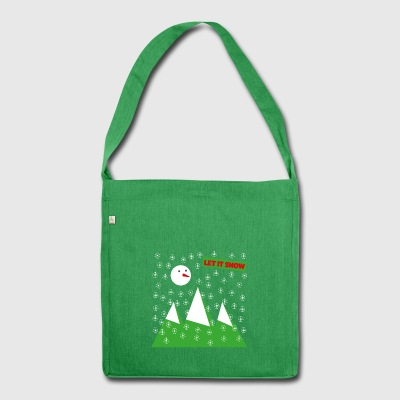 Let It Snow - Borsa in materiale riciclato