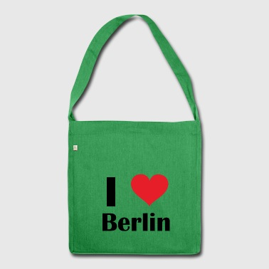 I love Berlin - Shoulder Bag made from recycled material