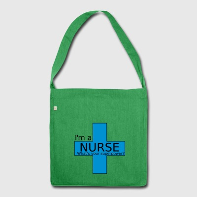 Nurse Superpower - Shoulder Bag made from recycled material