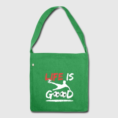 Life Is Good Soccer - Schoudertas van gerecycled materiaal