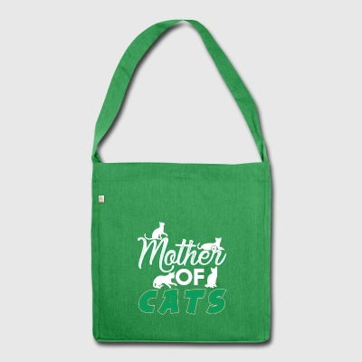 Mother of Cats - Shoulder Bag made from recycled material