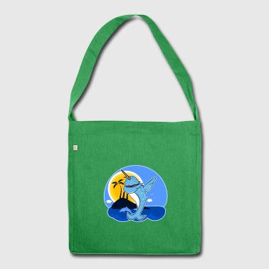 Funny Narwhal Dab Shirt - Shoulder Bag made from recycled material