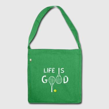 life tennis love tennis players tennisbal - Shoulder Bag made from recycled material