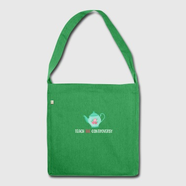 Teepot Teach The Controversy Evolution Atheism - Shoulder Bag made from recycled material