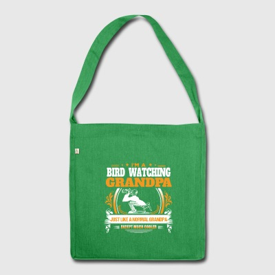 Bird Watching Grandpa Shirt Gift Idea - Shoulder Bag made from recycled material