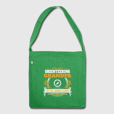 Orienteering Grandpa Shirt Gift Idea - Shoulder Bag made from recycled material