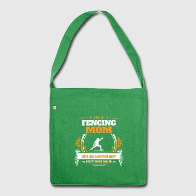 Fencing Mom Shirt Gift Idea - Shoulder Bag made from recycled material
