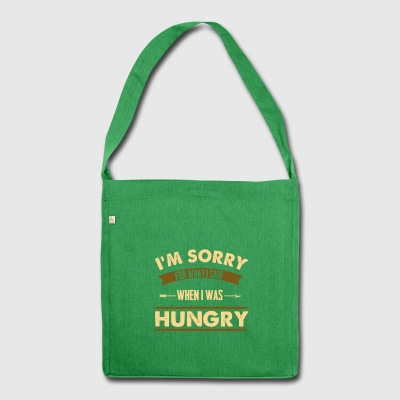 Hungry Funny saying T-Shirt Gift - Shoulder Bag made from recycled material