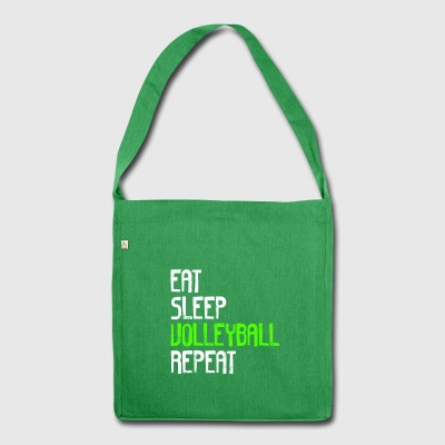 EAT SLEEP VOLLEYBALL REPEAT - Schultertasche aus Recycling-Material