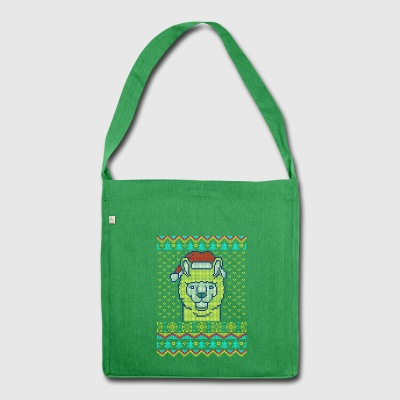 Llama Ugly Christmas Sweater Gift - Shoulder Bag made from recycled material