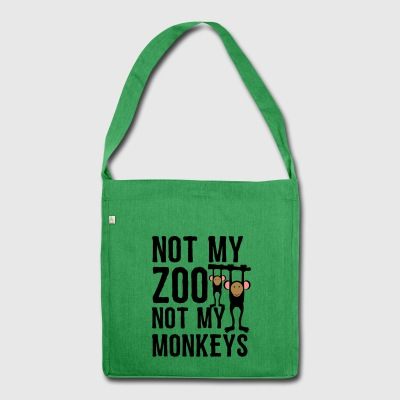 not my Zoo not my Monkeys 1 - Schultertasche aus Recycling-Material