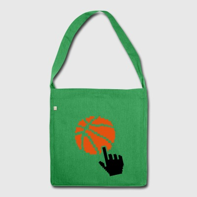 basketball pixel pointer hand 2 balloon b - Shoulder Bag made from recycled material