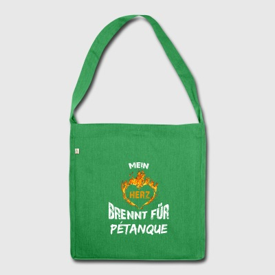 Gift T-Shirt Heart Burns Pétanque - Shoulder Bag made from recycled material