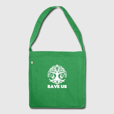 SaveUs wite - Schultertasche aus Recycling-Material