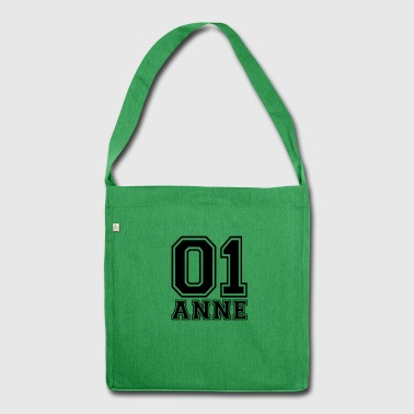 Anne - Name - Schultertasche aus Recycling-Material
