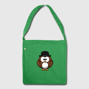 gufo cartoon 15 - Borsa in materiale riciclato