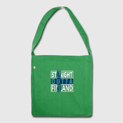 Straight outta Finland finnland png - Schultertasche aus Recycling-Material
