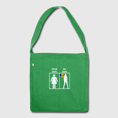 Moldova gift my wife your wife - Shoulder Bag made from recycled material
