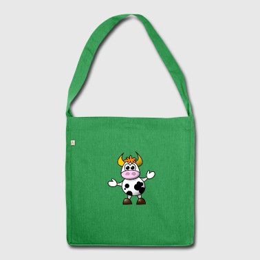 Cow cartoon 5 - Shoulder Bag made from recycled material