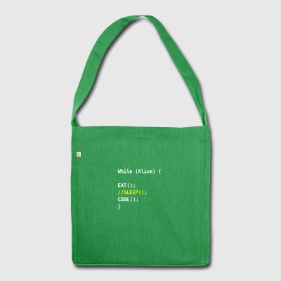 while alive - code - Shoulder Bag made from recycled material