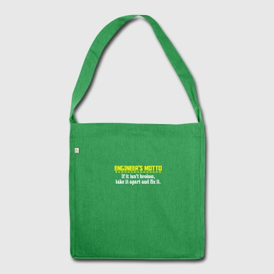 engineers motto - Schultertasche aus Recycling-Material