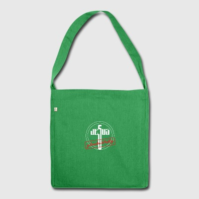 Jesus - Schultertasche aus Recycling-Material