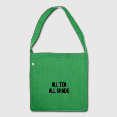 Alle Tee-All Black Shade - Schultertasche aus Recycling-Material