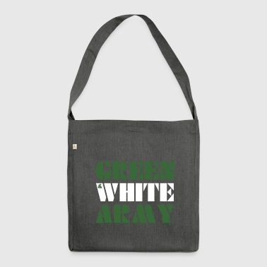 GREEN & WHITE ARMY _STENCIL_3 - Shoulder Bag made from recycled material